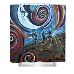 Bruja Luna Shower Curtain