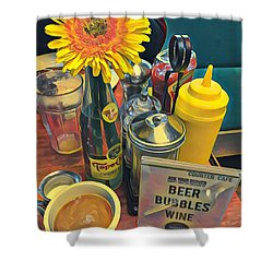 Brunch At Counter Cafe Shower Curtain
