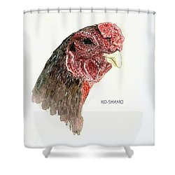 Bruno The Ko Shamo Rooster Shower Curtain
