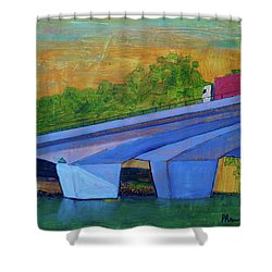 Brunswick River Bridge Shower Curtain