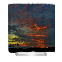 Brunswick Sky Line Shower Curtain by Laura Ragland