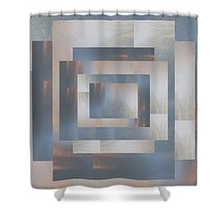 Brushed 23 Shower Curtain by Tim Allen