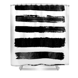 Brushstrokes Shower Curtain