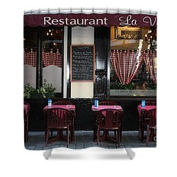 Brussels - Restaurant La Villette Shower Curtain by Carol Groenen