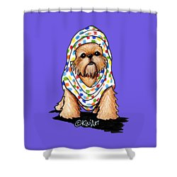 Brussels Griffon Beauty Shower Curtain by Kim Niles