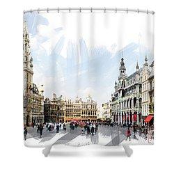 Brussels Grote Markt  Shower Curtain
