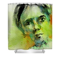 Shower Curtain featuring the painting Bryant by Jim Vance