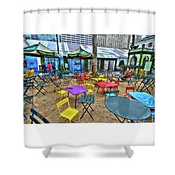Bryant Park In Vivid Color Shower Curtain by Laura Bode