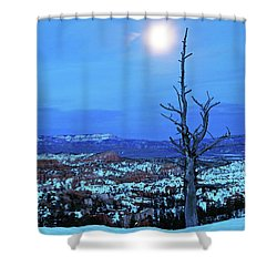 Shower Curtain featuring the photograph Bryce Blue by Nicholas Blackwell