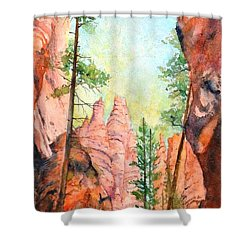 Bryce Canyon #2 Shower Curtain by Betty M M Wong