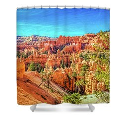 Shower Curtain featuring the photograph Bryce Canyon Artistry by John M Bailey