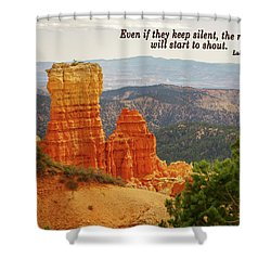 Shower Curtain featuring the photograph Bryce Canyon by Jim Mathis