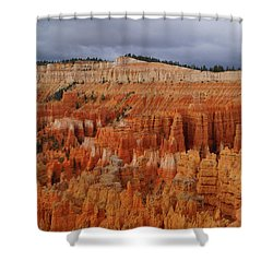 Shower Curtain featuring the photograph Bryce Canyon National Park by Broderick Delaney