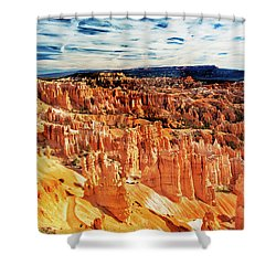 Shower Curtain featuring the photograph Bryce Canyon Overlook by Norman Hall