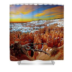 Shower Curtain featuring the photograph Bryce Canyon Sunrise by Norman Hall