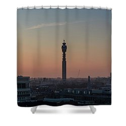 Shower Curtain featuring the photograph Bt Tower by Stewart Marsden