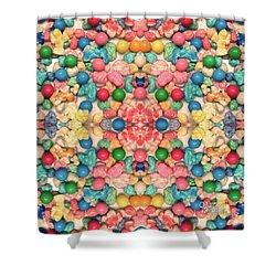 Shower Curtain featuring the digital art Bubble Gum #9776 by Barbara Tristan