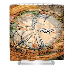Bubble Gum Round Shower Curtain