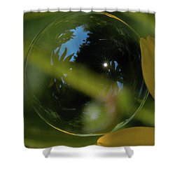 Bubble In The Garden Shower Curtain