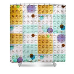 Shower Curtain featuring the mixed media Bubble by Ann Calvo