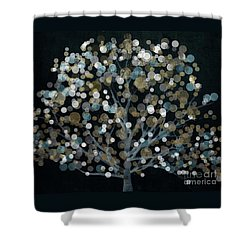 Bubble Tree Night Shower Curtain by Mindy Sommers
