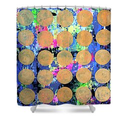 Bubble Wrap Print Poster Huge Colorful Pop Art Abstract Robert R Shower Curtain