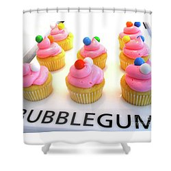 Shower Curtain featuring the photograph Bubblegum Cupcakes by Beth Saffer