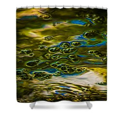 Bubbles And Reflections Shower Curtain by Marvin Spates