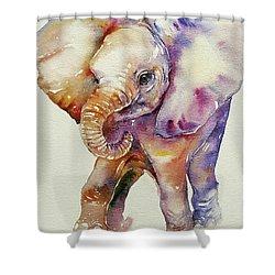 Bubbles Baby Elephant Shower Curtain