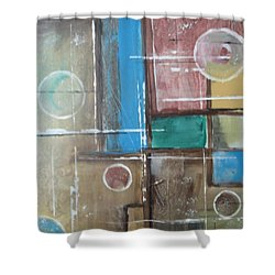 Shower Curtain featuring the painting Bubbles In The Air by Sharyn Winters