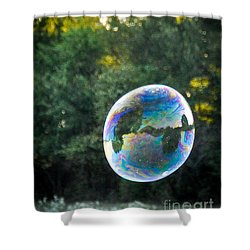 Bubbles In The Sky Shower Curtain