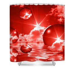 Shower Curtain featuring the photograph Bubbles In The Sun - Red by Shane Bechler