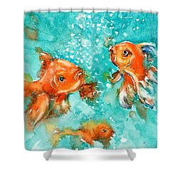 Bubbles Shower Curtain by Judith Levins