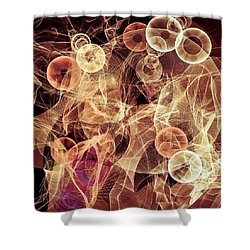 Bubbles On The Run Shower Curtain