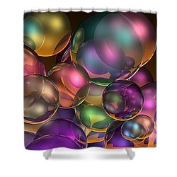 Bubbles Overall Shower Curtain