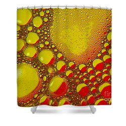 Bubbles Red / Yellow Shower Curtain