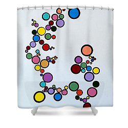 Bubbles2 Shower Curtain by Thomas Gronowski
