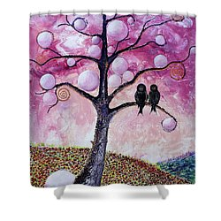 Bubbletree Shower Curtain