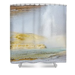 Shower Curtain featuring the photograph Bubbling Earth by Colleen Coccia