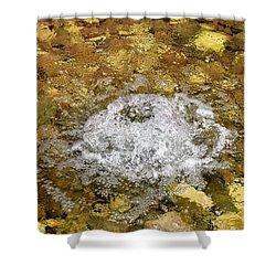 Bubbling Water In Rock Fountain Shower Curtain