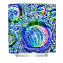 Bubbly Shower Curtain by Andreas Thust