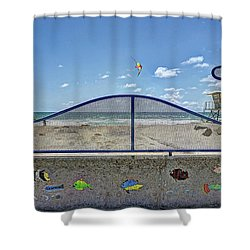 Buccaneer Beach Shower Curtain by Ann Patterson