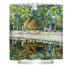 Buccaneer Island Shower Curtain by Danielle  Perry