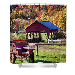 Shower Curtain featuring the photograph Buck Board Ready For Fall Colors by Jeff Folger