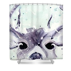 Shower Curtain featuring the painting Buck by Dawn Derman
