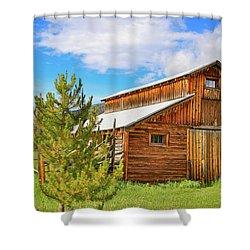 Buckaroo Barn 2 Shower Curtain by John Roberts