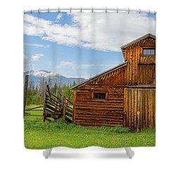 Buckaroo Barn In Rocky Mtn National Park Shower Curtain by John Roberts