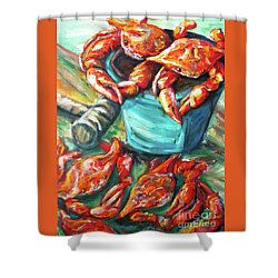 Bucket O Crabs Shower Curtain
