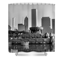 Buckingham Fountain - 2 Shower Curtain