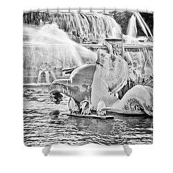 Buckingham Fountain Chicago Shower Curtain by Paul Velgos
